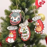 anti deform portable xmas ambience christmas pendant wood pendants eye catching home decor