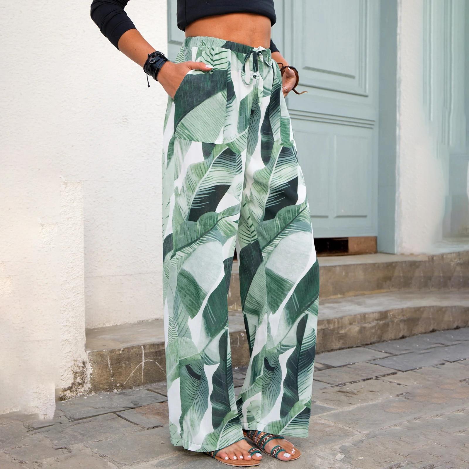 Женские брюки взрывоопасного стиля, новинка 2021, широкие брюки с принтом, прямые брюки, повседневные брюки, брюки