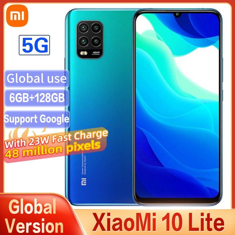 Смартфон Xiaomi Mi 10 Lite с глобальной версией Snapdragon 765, восьмиядерный, AMOLED, полноэкранный, 48MP, пиксель, 22 Вт, с мобильным телефоном NFC 5G