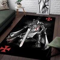 knights templar cavalier carpet soft flannel 3d print rug parlor mat area rug anti slip large carpet rug living room decor 002