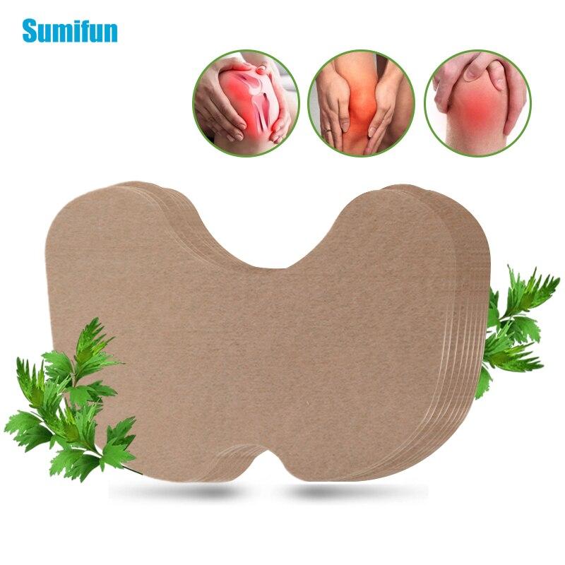 Sumifun 24 шт. травяной коленный пластырь из полыни, экстракт для снятия коленного сустава, ревматоидный артрит, медицинский пластырь