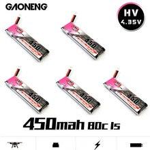 GAONENG GNB 450mAh 3.7V 1S 80C 4.35V HV batterie PH2.0 prise blanche pour E010 Emax Freestyle RC FPV Cine Whoop BetaFPV Drone