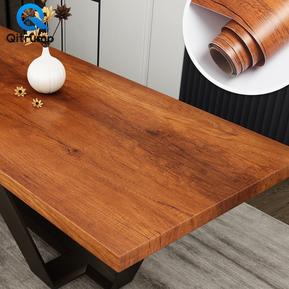 Papel tapiz impermeable de grano de madera autoadhesivo, película para armario de cocina, dormitorio, armario, muebles, decoración de pegatinas de renovación de escritorio