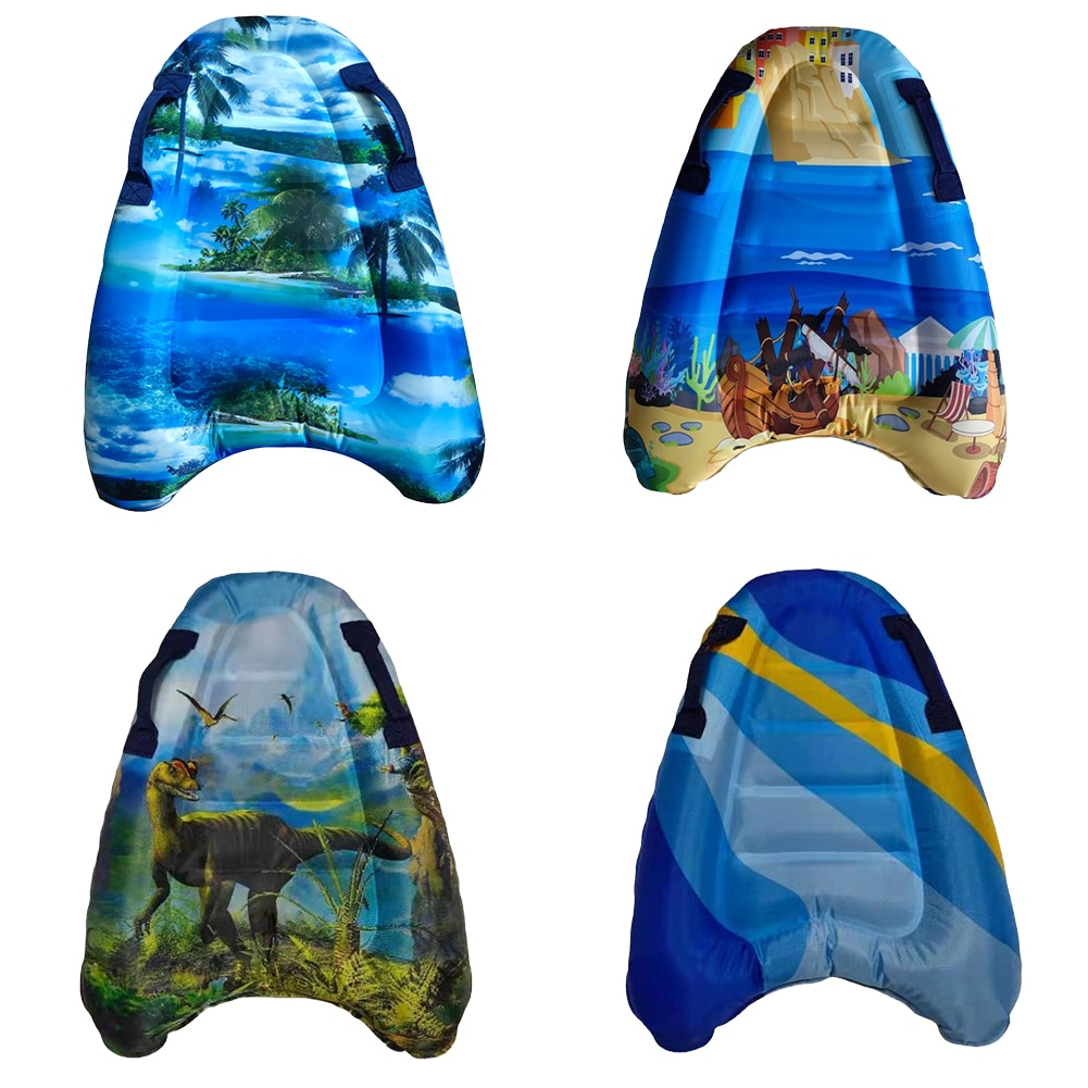 Children Inflatable Surfboard Ocean Printed Buoy Kickboard Kids Summer Floating Toys Safe Floating Mat for Beginners and Experts