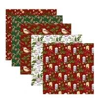 christmas handmade diy patchwork cotton patchwork fabric christmas fabric sewing squares cotton craft fabric for patchwork
