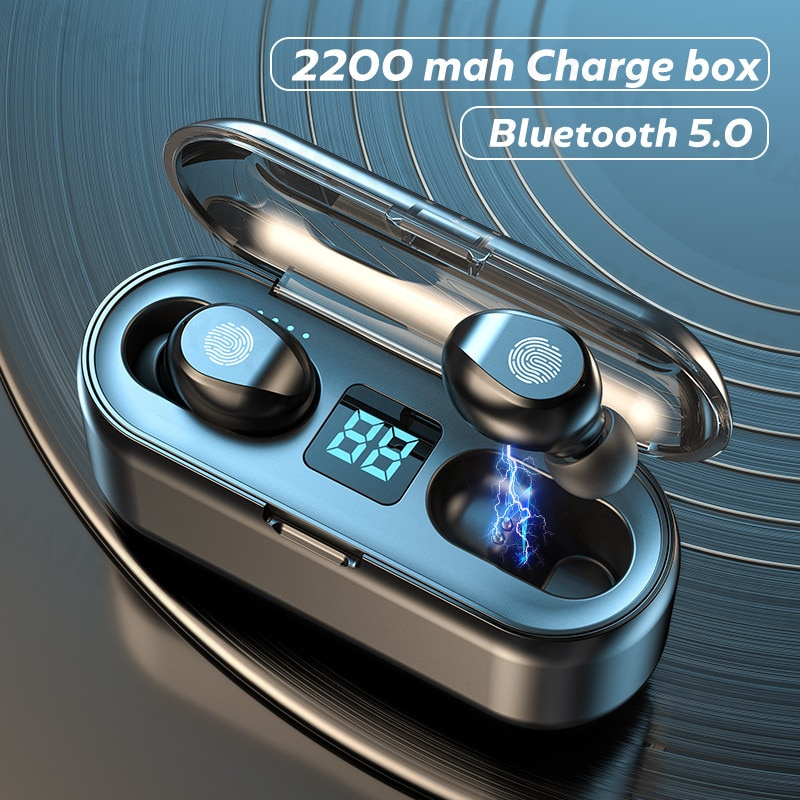 TWS Bluetooth 5,0 Kopfhörer 2200mAh Lade Box Drahtlose Kopfhörer Keine Verzögerung Ohrhörer Sport Wasserdichte Kopfhörer Mit Mikrofon