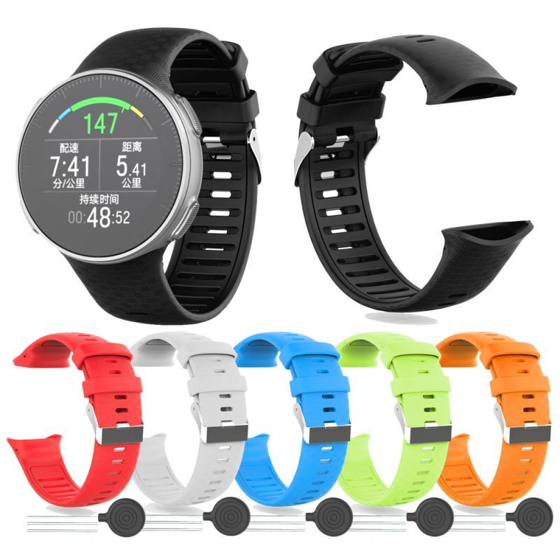Pulseira de silicone da moda para polar vantage, 6 cores v yo pulseira esporte faixa de relógio colorida pulseira de substituição tslm1