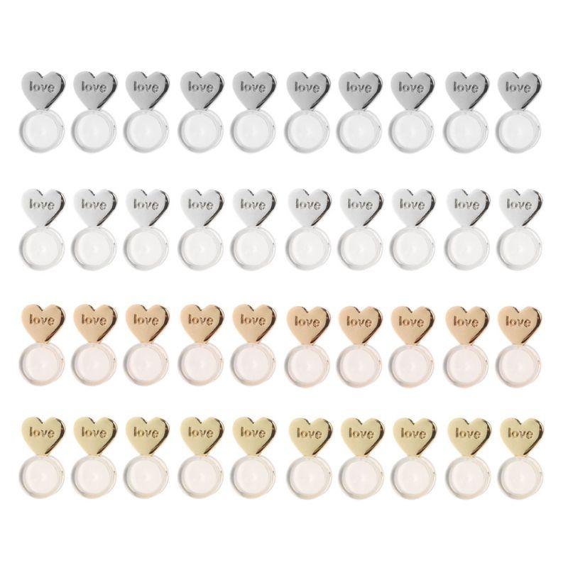 10 шт сердца серьги