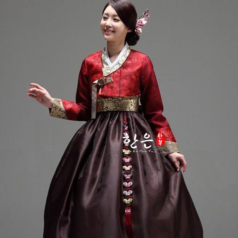 فستان رقص هانبوك الكوري للنساء, فستان رقص تقليدي بأكمام طويلة ، زي تنكري مخصص للنساء ، شحن مجاني