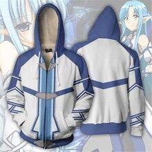Cosplay Sword Art Online Ayano Keiko 3D printed zipper sweater spring and autumn fashion casual sweatshirt jacket costume