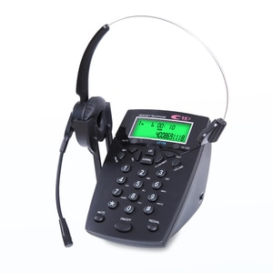 Handsfree Call Center Dialpad Corded Telephone with Monaural/Binaural Headset Headphones Tone Dial Key Pad for House Call Center