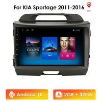 2G+32G Android 10 Car Radio Multimedia Player GPS Navigator For KIA Sportage 2011-2016 autoradio video stereo head unit mic wifi