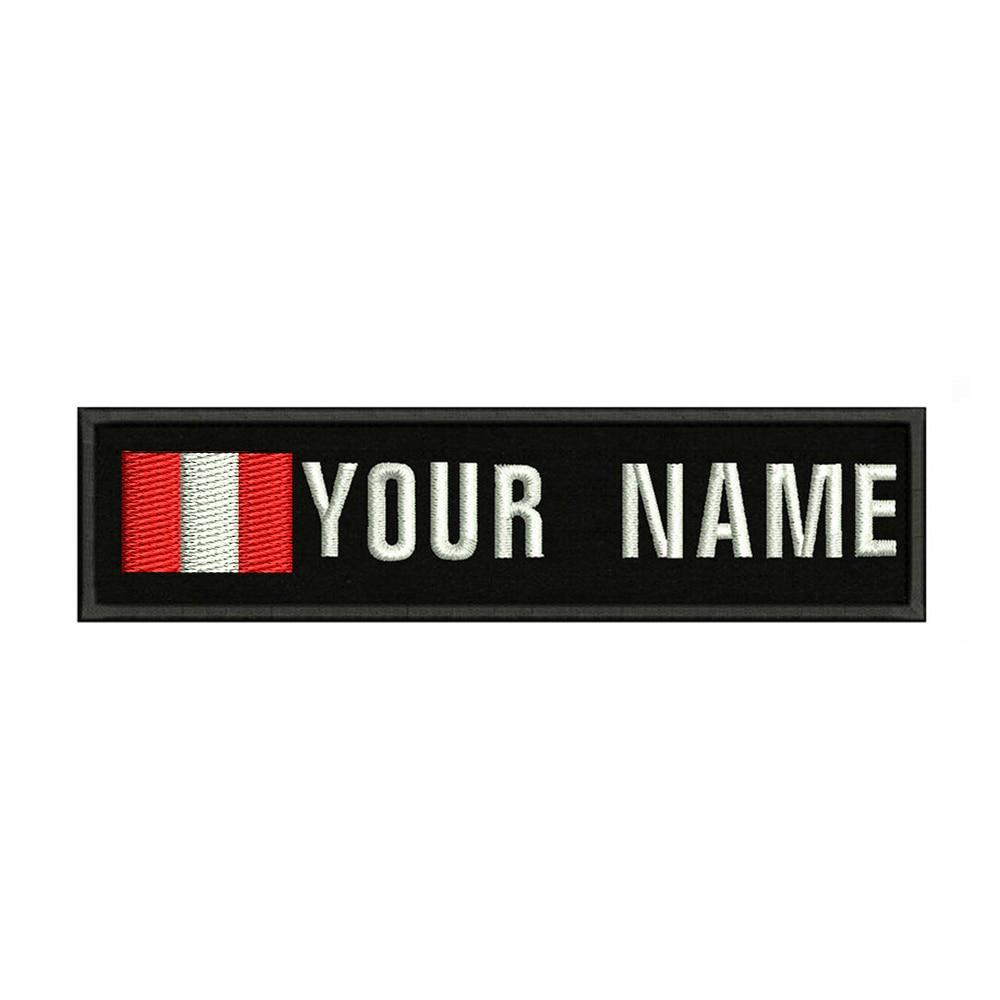 Перу флаг вышивка пользовательское имя заплатка с текстом полосы значок утюжить или шить на или липучке подложки патчи для одежды рюкзак шл...