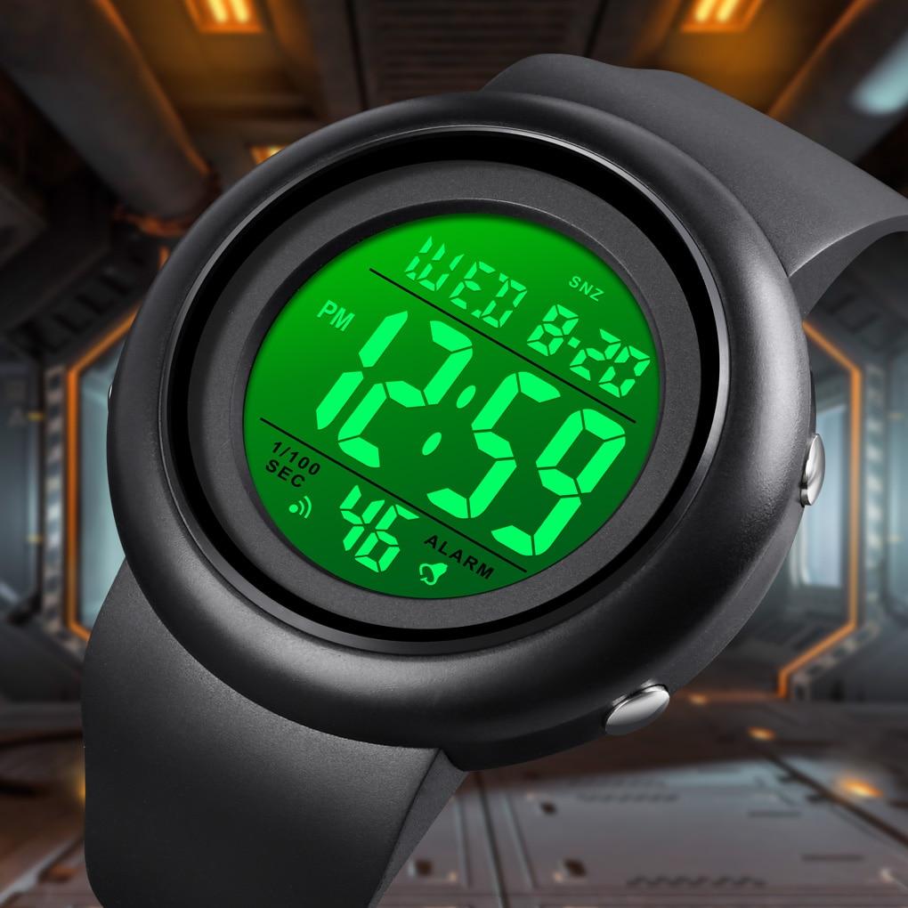 SKMEI Women Men Watches Fashion Chronograph Clock Digital Wristwatch Luminous Display For Gift Waterproof Sport Watch