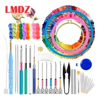 lmdz magic embroidery pen punch needle kit craft embroidery threads cross stitch embroidery hoop diy sewing accessory tools kit