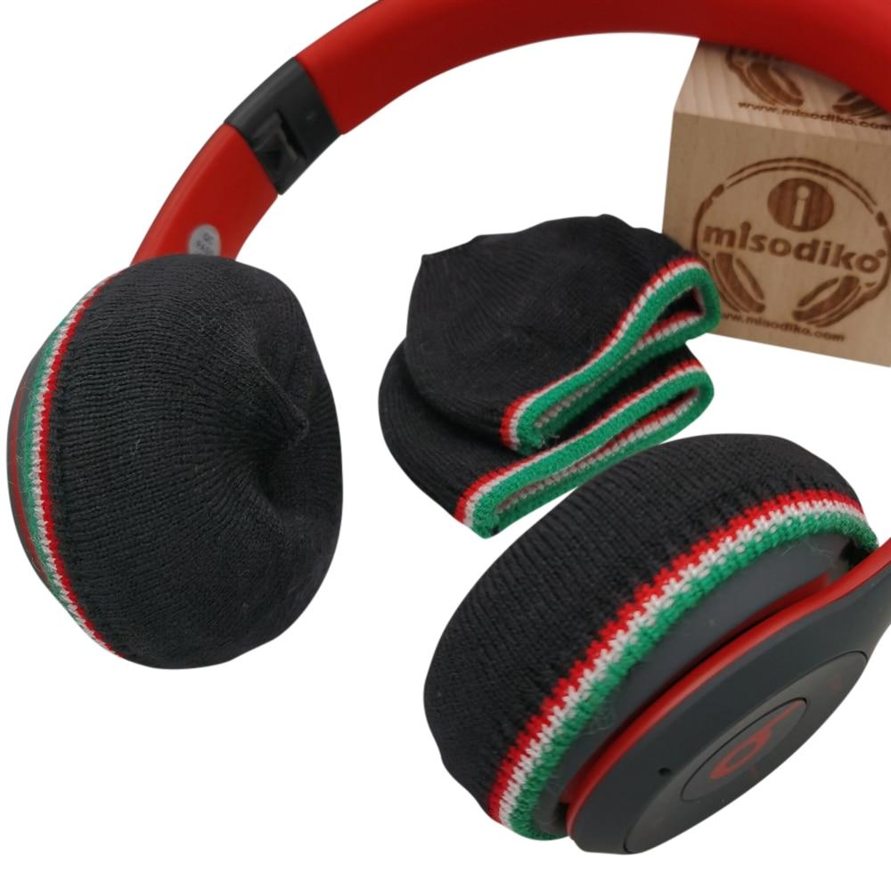 misodiko Stretchable Knit Earpads Covers for Beats Solo 3, 2/ Bose OE2 OE2i/ Sennheiser Momentum 1.0 2.0 HD1 On-Ear Headphones enlarge