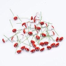 10/30/50 sztuk PE grzyb sztuczne rośliny diy prezenty pudełko akcesoria ślubne odprawy świąteczne kwiaty scrapbooking