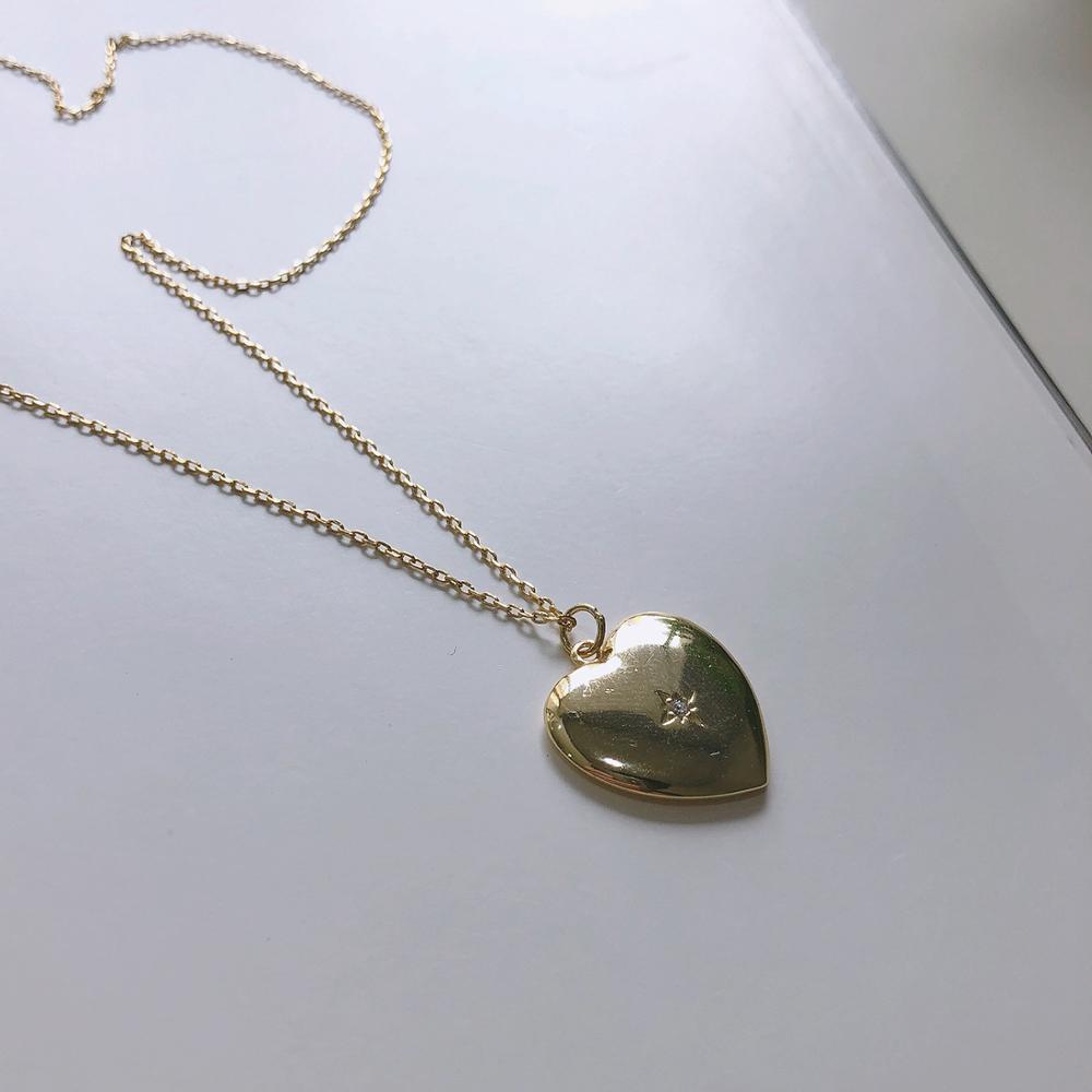 Elegante Regalo de Cumpleaños auténtico oro de Plata de Ley 925 de oro brillante de corazón collar de circón de alta calidad de joyería fina TLx560