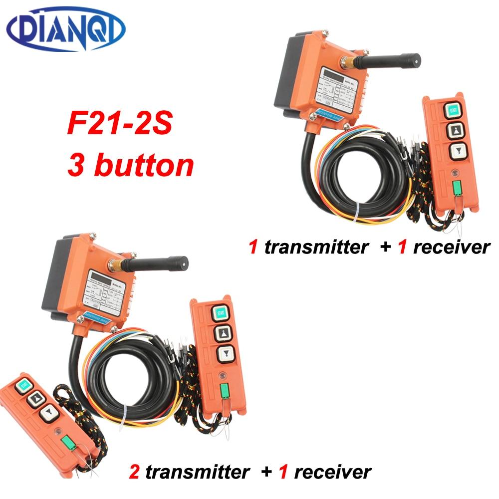 3 أزرار F21-2S اللاسلكية الصناعية تحكم عن بعد رافعة كهربائية التحكم عن بعد لف المحرك الرمل مفاتيح