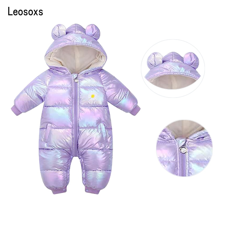 2020 New born Children Winter Baby Clothes waterproof Romper For Girl Boy Jumpsuit Cotton Overalls Kids Costume Infant Clothing