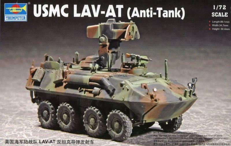 US Stock 1/72 Trumpeter 07271 USMC Lav-At Anti-Tank Missile Truck ATGM Model Armored Car TH07163-SMT2 realts trumpeter 01034 1 35 russian kamaz 4310 truck