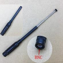NA-773 144/430 MHz UV dual band telescopic antenna BNC for ICOM IC-V8/V82,Kenwood TK208 etc two way radio 12-41cm