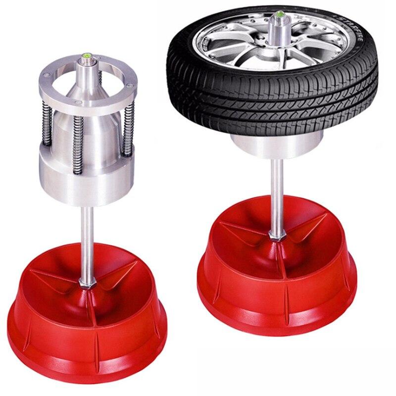 Coche camión portátil rueda con buje neumático balanceador nivel de burbuja Borde de alta resistencia herramientas de reparación de automóviles