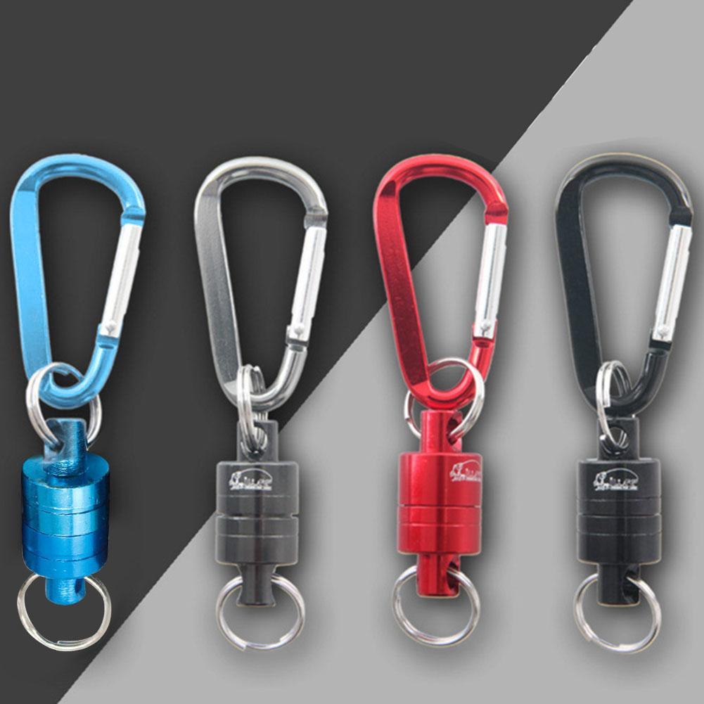 Magnet Yang Kuat Carabiner Aluminium Alloy Carabiner Gantungan Kunci Outdoor Camping Climbing Snap Klip Kunci Gesper Hook Memancing Alat