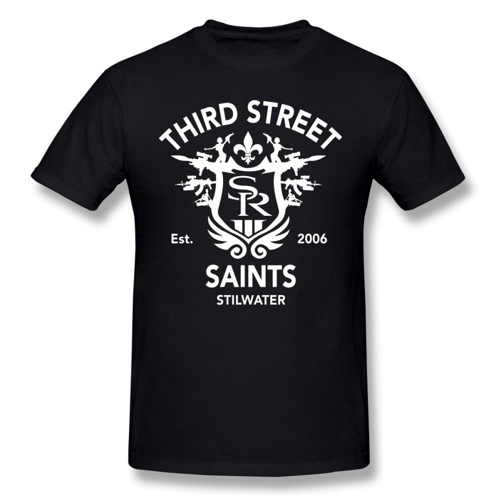Camiseta con el emblema de los Saints Row, camiseta con el símbolo de los Saints Row 3, camiseta a la moda para hombre, Camiseta de algodón 100% de manga corta impresionante