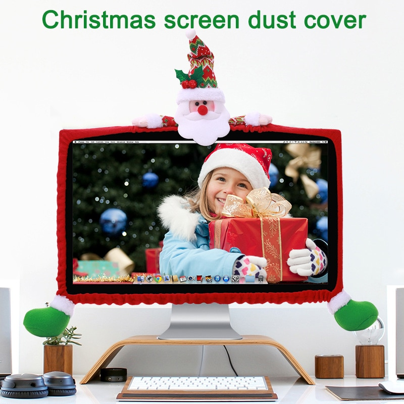 Cubierta antiestática para Monitor de Navidad para ordenador LCD de 19-27 pulgadas/Pantalla de Panel LED SP99