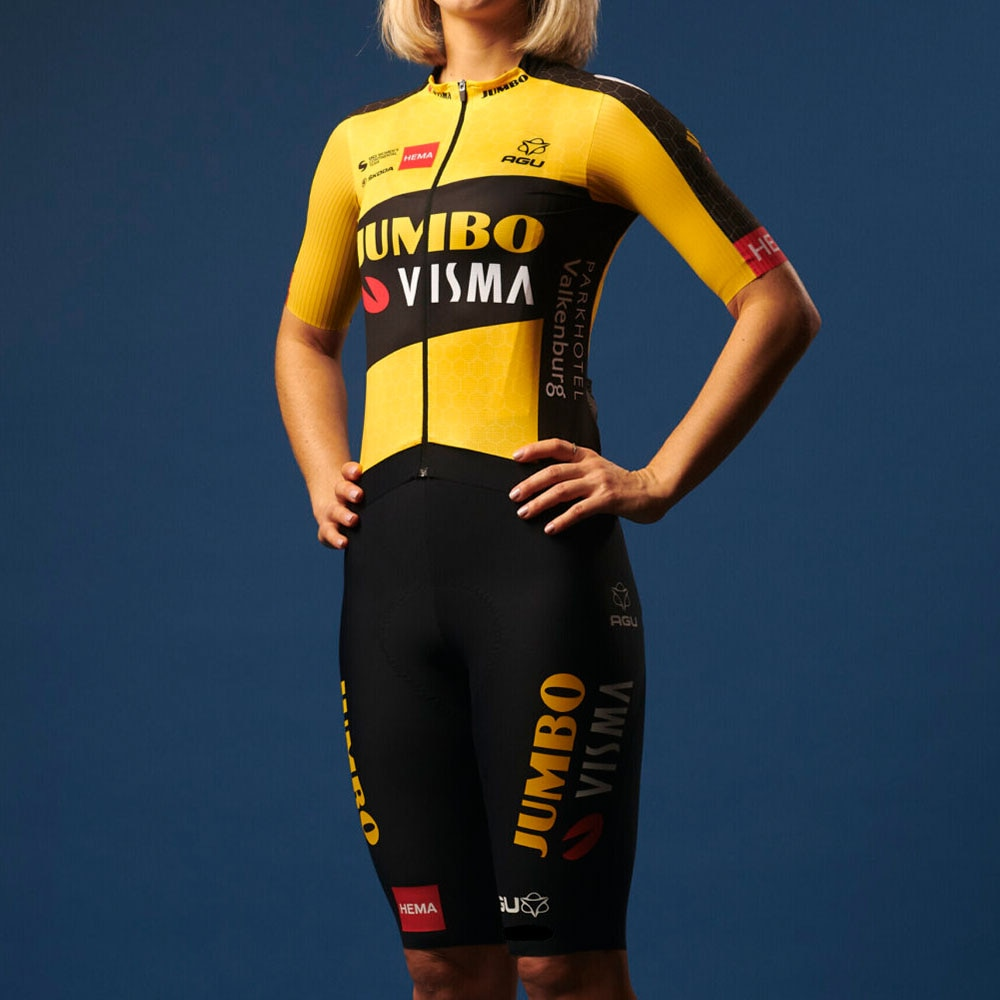 Mujer bicicleta traje Jumbo Visma verano uniforme manga corta De ropa De...