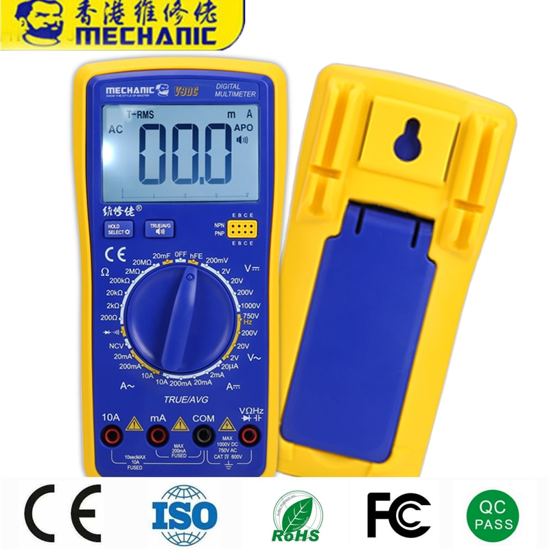 25pcs V90E New Upgrade Automatic Intelligent Voice Broadcast Multimeter To Repair Mobile Phone Convenient And Efficient