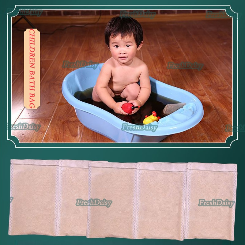 360G Children Bath Powder Packs For Lack Of Sleep Crying At Night Soothe The Nerves Help Sleep Baby Bathing Bags Health Care