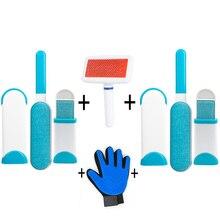Kit de nettoyage danimaux   Surprise offre, gant de toilettage danimaux, dissolvant de cheveux, brosse pour démaquillage doux, gants de Massage danimaux de compagnie parfaits pour chiens et chats
