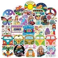 103050 pcs hippie graffiti waterproof suitcase guitar notebook sticker travel girl popular skateboard decoration wholesale
