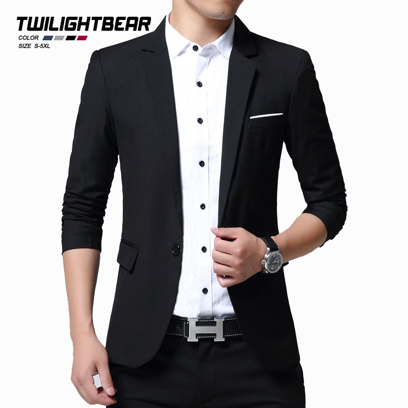Новый мужской костюм куртки мужской блейзер оверсайз Весна Осень корейский стиль Тонкий деловой Повседневный блейзер мужская одежда 5XL AF106