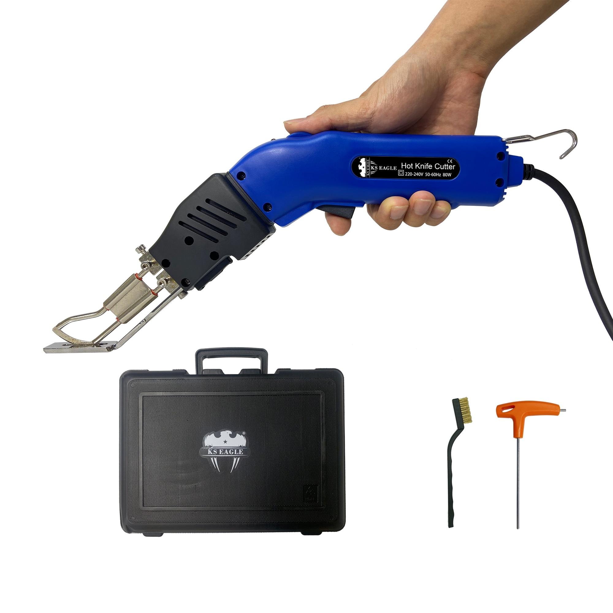 KS النسر الساخن سكين نسيج القاطع الكهربائية الحرارة قاطع أحبال للحبل قماش صوفي حزام R-نوع شفرة مع قطع النسيج القدم
