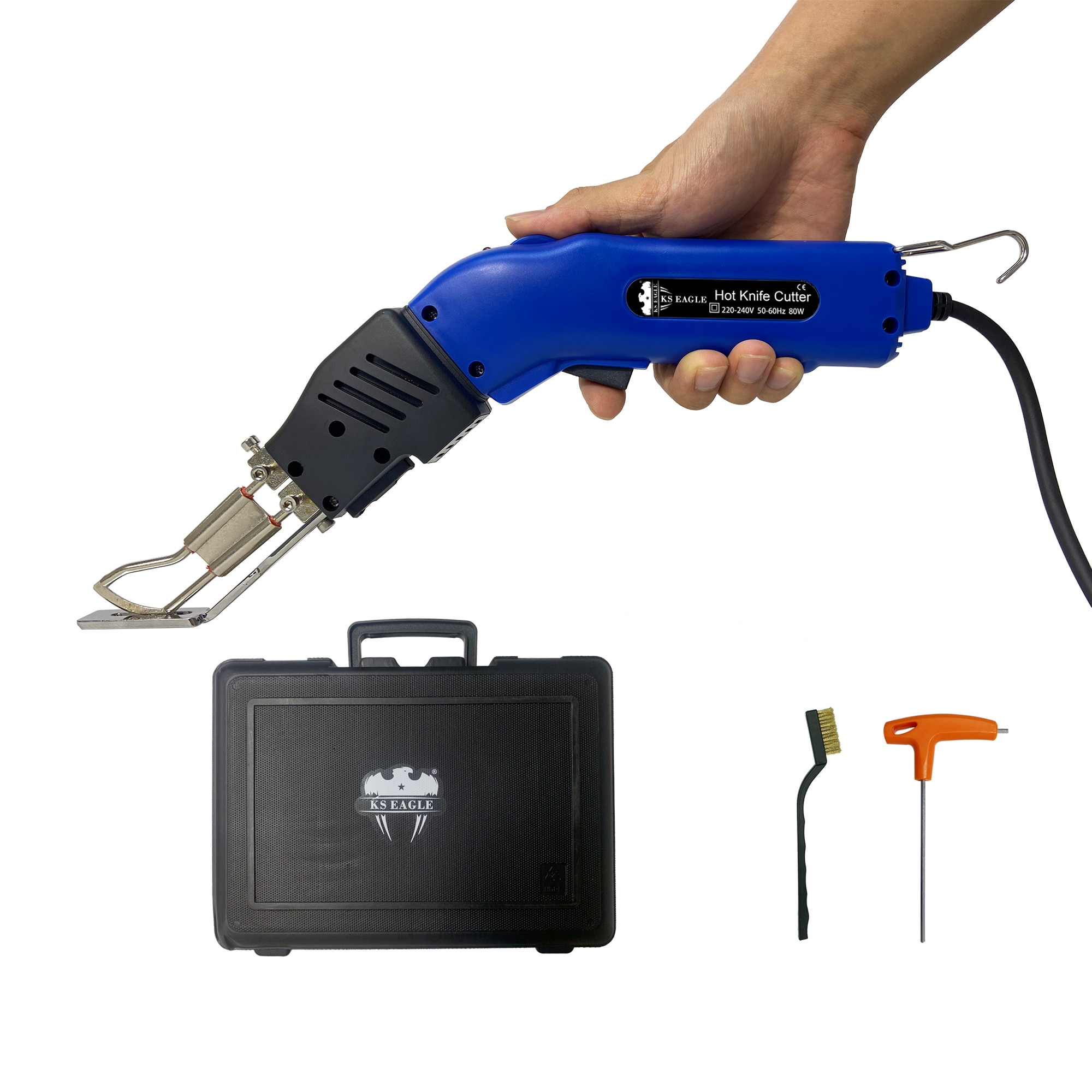 Нож для резки ткани KS EAGLE, электрический нож для резки ткани, нож R-типа для резки ткани