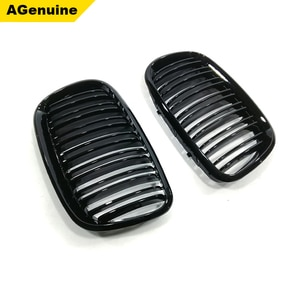 Glossy black colorful ABS dual slat Car front bumper radiator mesh grille auto racing grills for BMW X5 E70 X6 E71