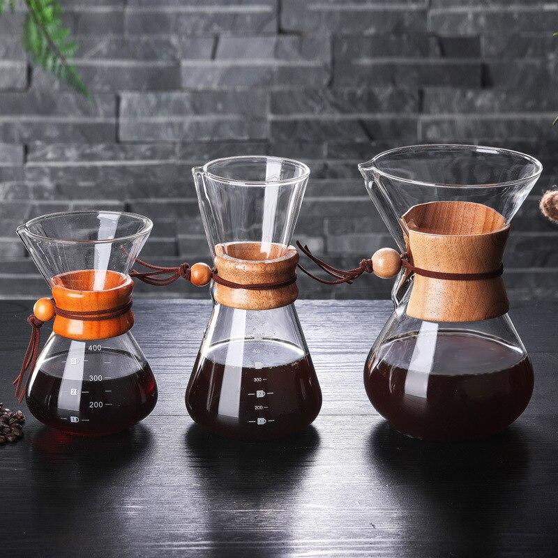 Cafetera IWELAI de cristal resistente 400ml, 600ml, 800ml, cafetera Espresso