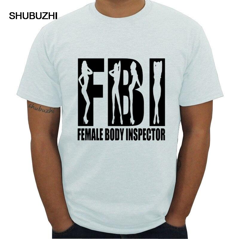 INSPECTOR de cuerpo femenino FBI algodón ajustado-Poly shubuzhi hombres camiseta moda hip-hop gran oferta verano algodón 100% camiseta informal