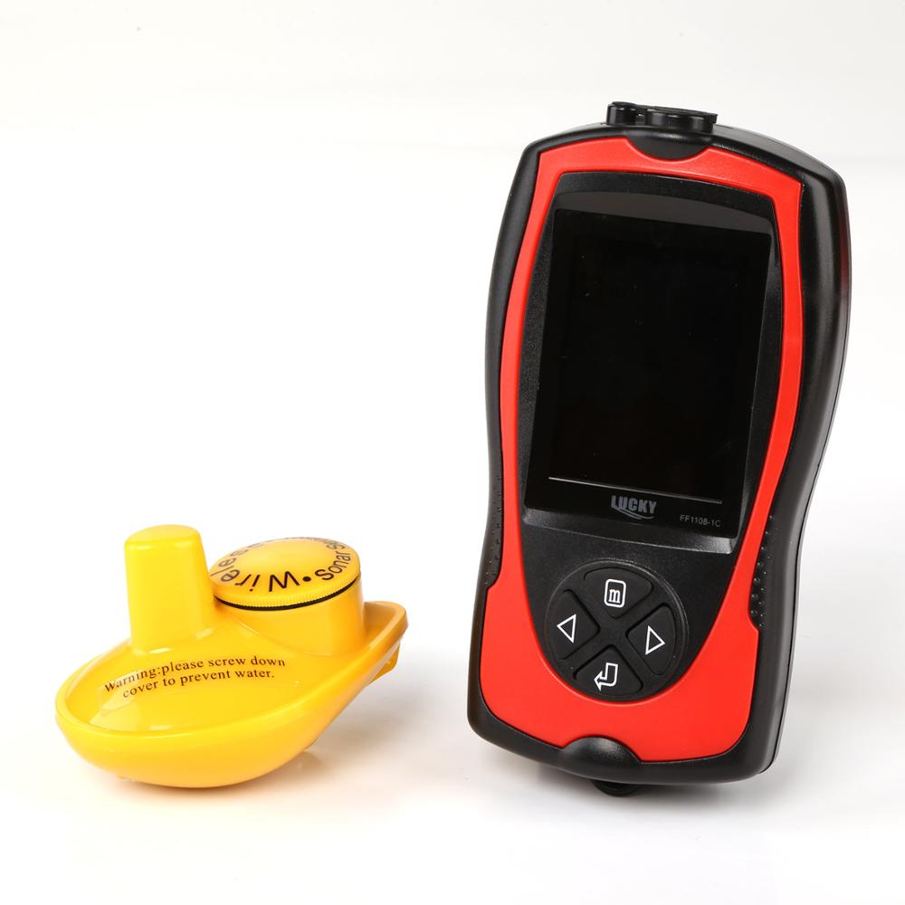 LUCKY FF1108-1CW 100m wireless operating range Wireless Sonar Color Fishfinder 147ft/45m water depth Echo Sounder Fishing Finder enlarge