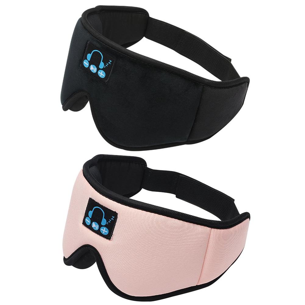 Stereo Wireless Bluetooth V5.0 Sleep Headphones Calling Music 3D Sleep Eye Mask Cover Earphone Night Rest Shade Eyepatch Headset enlarge