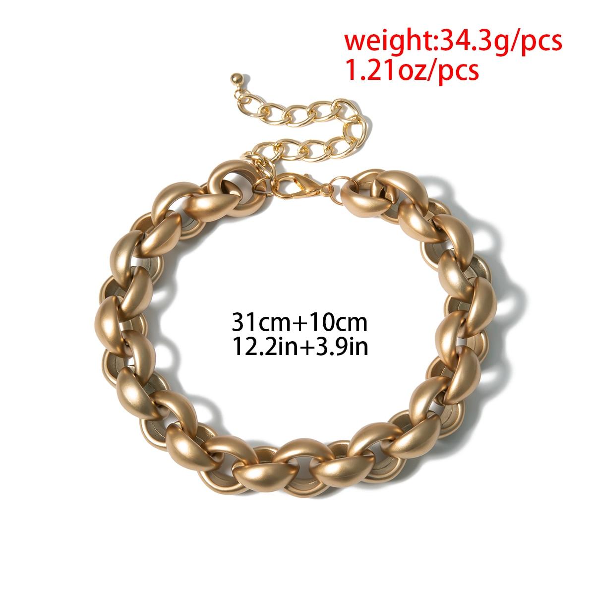 Купить с кэшбэком Exaggerated Vintage Ancient Choker Necklace Pendant Women Statement Lock Link Thick Chain Necklace Steampunk Men Jewelry