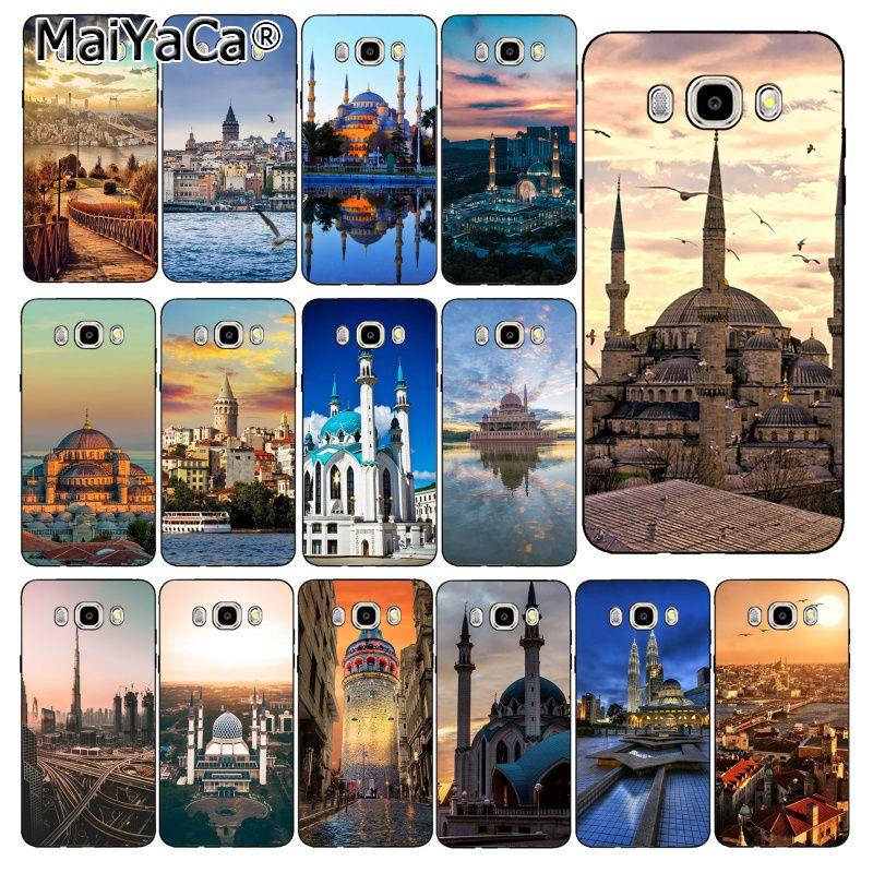 MaiYaCa Turkey Istanbul Sceneary Building  Phone Case Back Cover For Samsung Galaxy J7 J6 J8 J4 J4Plus J7 DUO J7NEO J2 J5 Prime