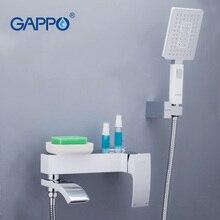 Grifos de bañera GAPPO, grifo de baño, Grifo de ducha de baño montado en la pared, mezclador de bañera de latón, grifo mezclador de baño, grifos de cascada