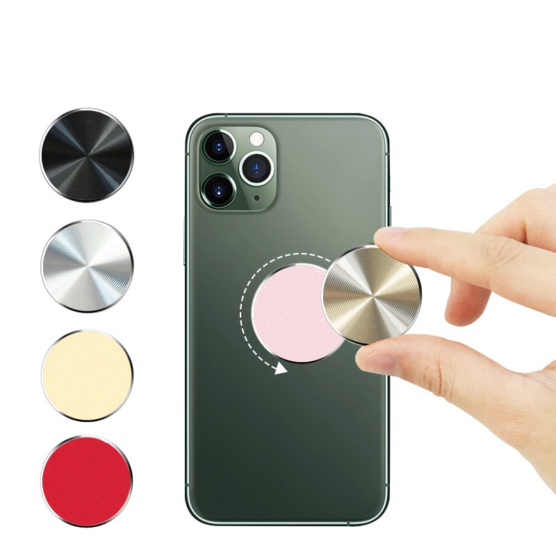 2021 new iphone Sticker Metal Plate disk iron sheet Magnet Mobile Phone Holder accessories For Magne
