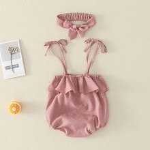 Yg Brand Children's Wear, Newborn Climbing Suit, Girl's Cotton Tight Jumpsuit, Baby Suit, Summer Jum