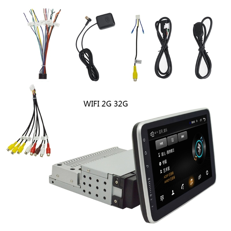 1 Din Car Multimedia Player 9 inch Touch Screen Autoradio Stereo Video GPS WiFi