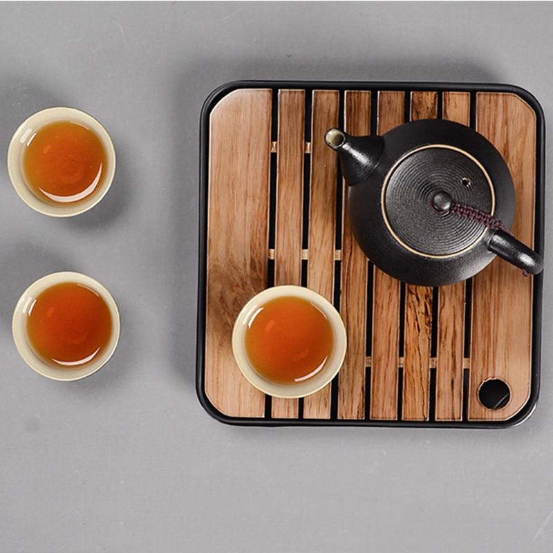 صينية شاي من خشب البامبو المقلد ، سيراميك تقليد ، تخزين مياه ، مجموعة شاي الكونغ فو ، طاولة طاولة طاولة ، شاي صيني ، أدوات حفل